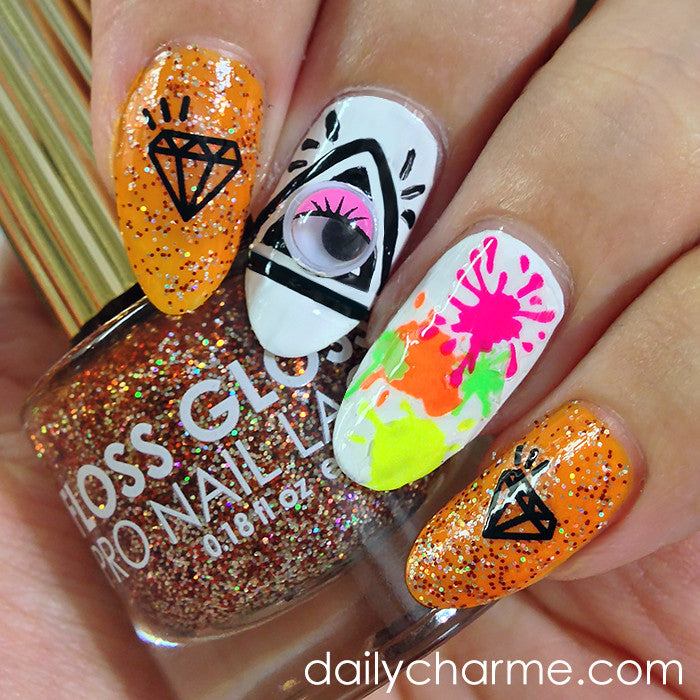 Daily Charme Nail Art Stickers Halloween Lips & Cute Skull