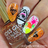Daily Charme Nail Art Stickers Neon Splatter