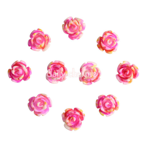 Nail Art Decor Delicate Roses Flower / Pink / 6MM Spring Nails