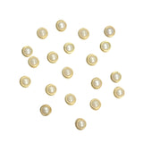 Nail Art Gold Framed Pearl Flatback / Ivory / 4mm 5mm 6mm