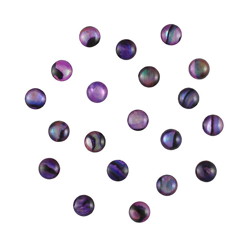 Round Natural Seashell Gems / Purple