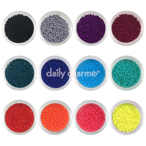 Rich Color Bohemian Bullion Beads / 1MM / 12 Jars