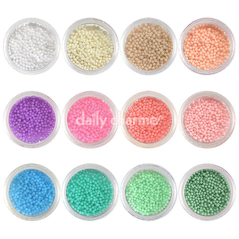 Pastel Color Bohemian Bullion Beads / 1MM / 12 Jars