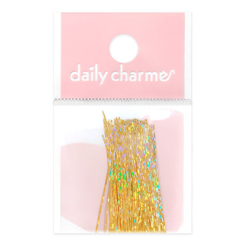Ultra Thin Holographic Film Paper Strips / Gold Nail Art