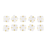 Japanese Nail Art Rhinestone Gold Setting Square White Opal