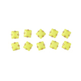 Opaque Square Rhinestone With Gold Setting Yellow Nail Art Decoration