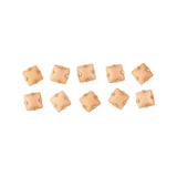 Opaque Square Rhinestone With Gold Setting Peach Nail Art 3D
