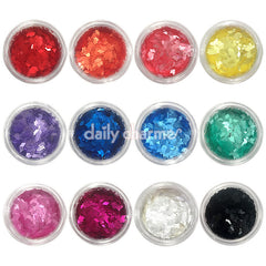 Colorful Diamond Glitter Set / 12 Jars Nail Art Decors