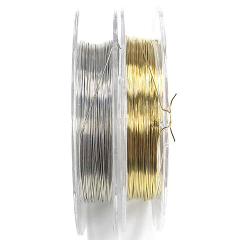 Ultra Thin Nail Art Metal Copper Wires 0.25mm Gold Silver