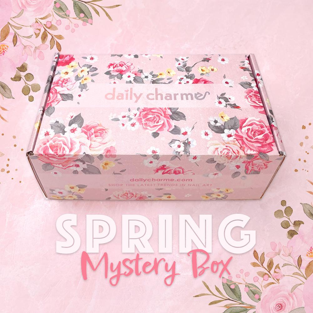 Spring Mystery Nail Art Gel Decoration Box Daily Charme Gift Idea