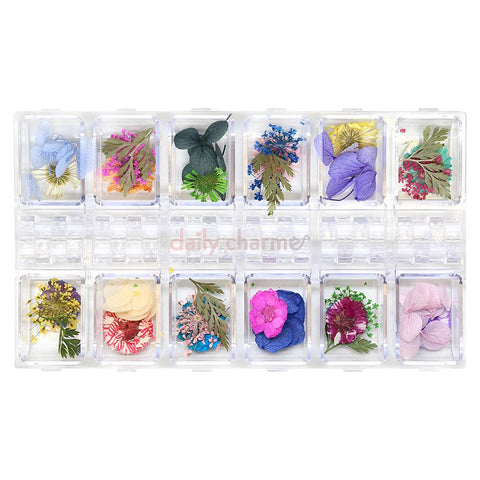 Nail Art Supplies Pressed Dry Natural Flower & Leaf Set / Mix