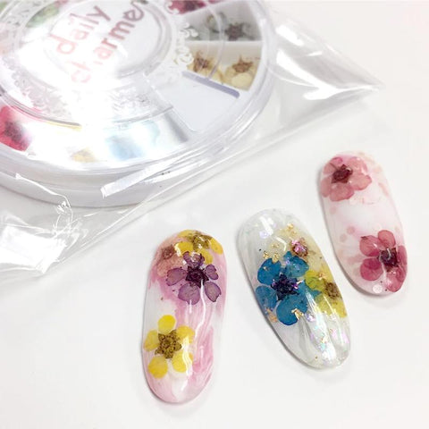 Daily Charme Spring Nail Art Decoration Pressed Dry Natural Flower