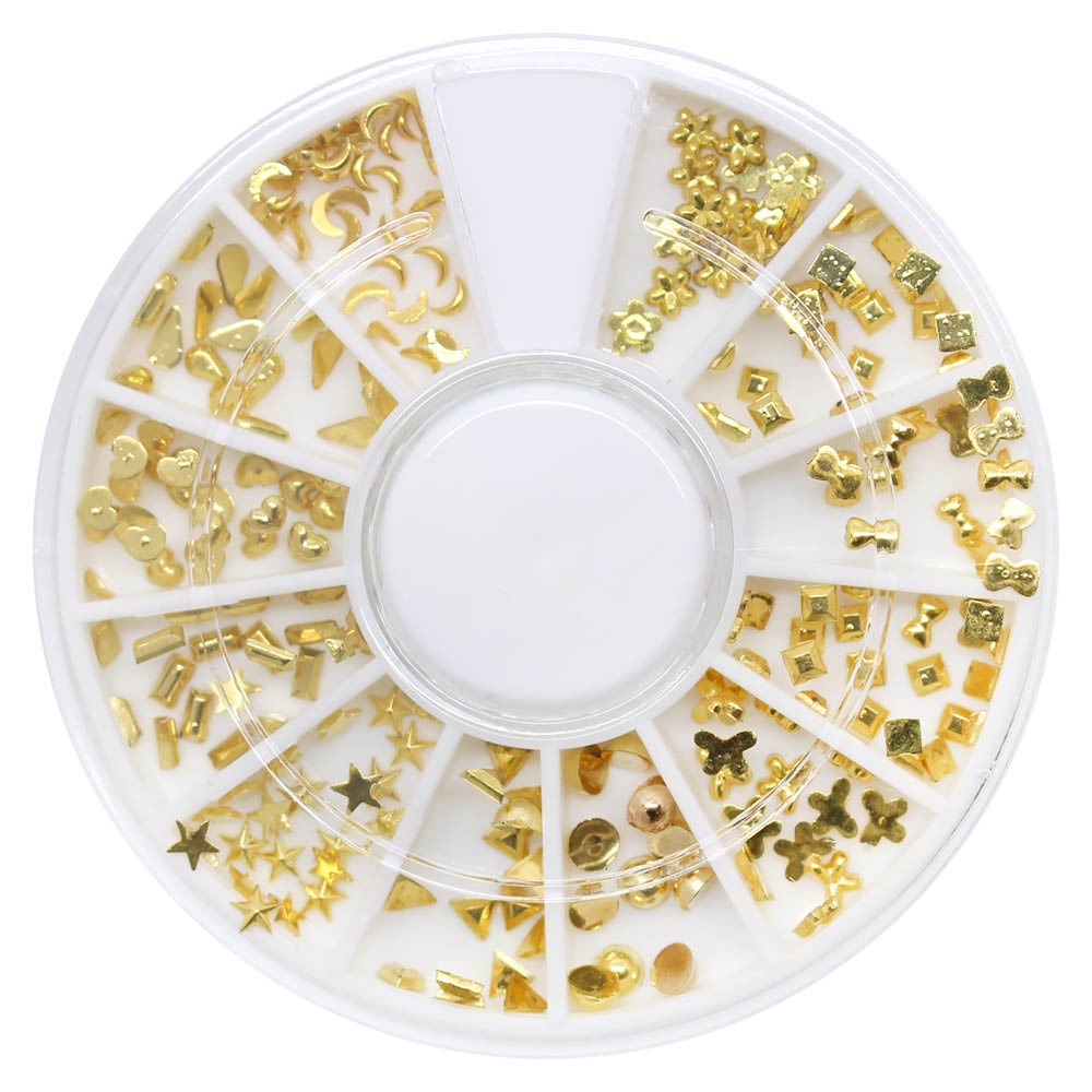 Mixed Small Resin Studs Wheel / Gold