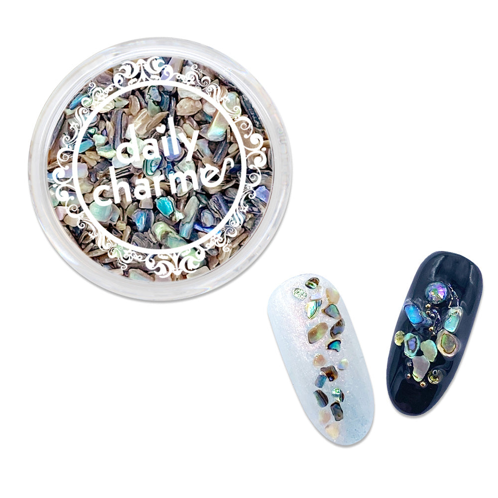 Daily Charme Crushed Seashell / Paua Natural Shell Summer Mermaid Nail