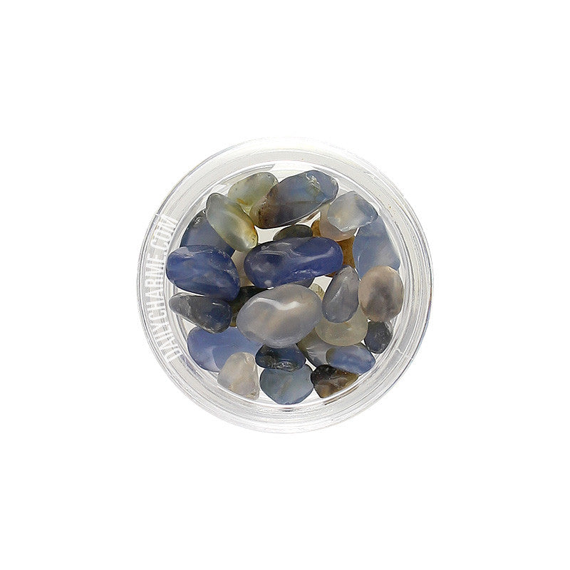 Nail Art Stones Natural Gems / Blue Agate