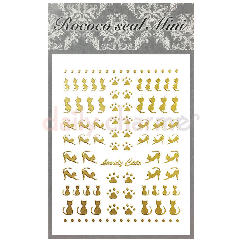 Daily Charme Nail Supply Rococo Japanese Nail Art Sticker / Kitty Cats