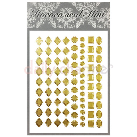 Daily Charme Nail Supply Rococo Japanese Nail Art Sticker / Scalloped Frames