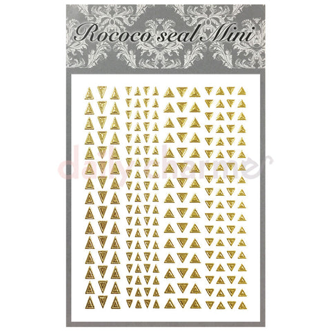 Daily Charme Nail Supply Rococo Japanese Nail Art Sticker / Frame & Studs Triangle