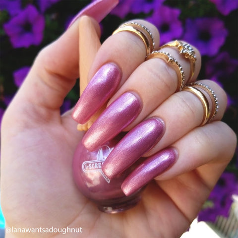 I Scream Nails / Pony Ride Metallic Pink Nail Polish