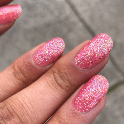 I Scream Nails / Sour Sucker Pink Holographic Nail Polish