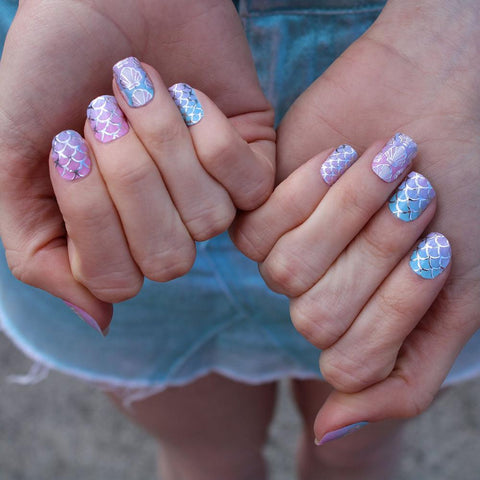 Daily Charme Indie Nail Polish I Scream Nails / Nail Wraps / Mermaid Mania