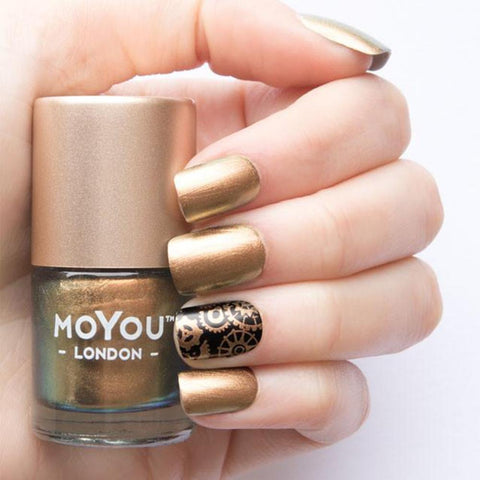 Moyou London / Stamping Nail Lacquer / Ginger Rust - Multichrome Stamping Polish