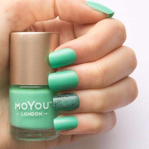 Moyou London / Stamping Nail Lacquer / Turquoise Mint - Turquoise Stamping Polish