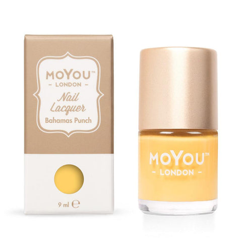 Moyou London / Stamping Nail Lacquer / Bahamas Punch - Yellow Stamping Polish