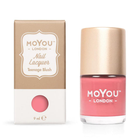 Moyou London / Stamping Nail Lacquer / Teenage Blush - Rose Pink Stamping Polish