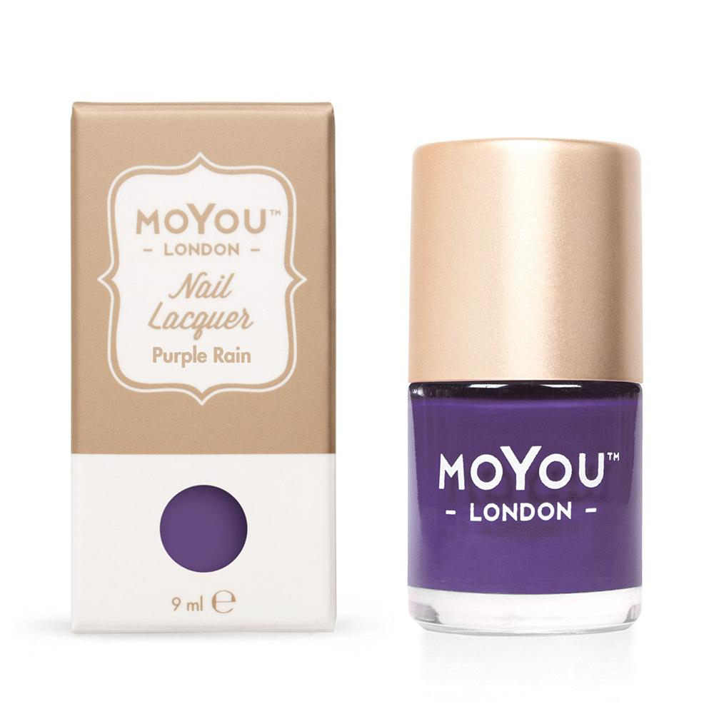Moyou London / Stamping Nail Lacquer / Purple Rain - Purple Stamping Polish