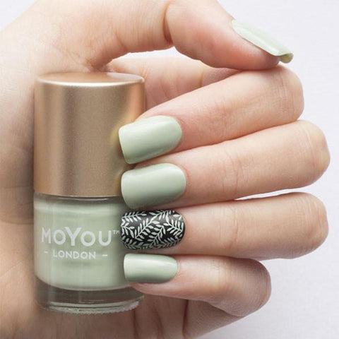 Moyou London / Stamping Nail Lacquer / Olive Tree - Green Mint Olive Stamping Polish