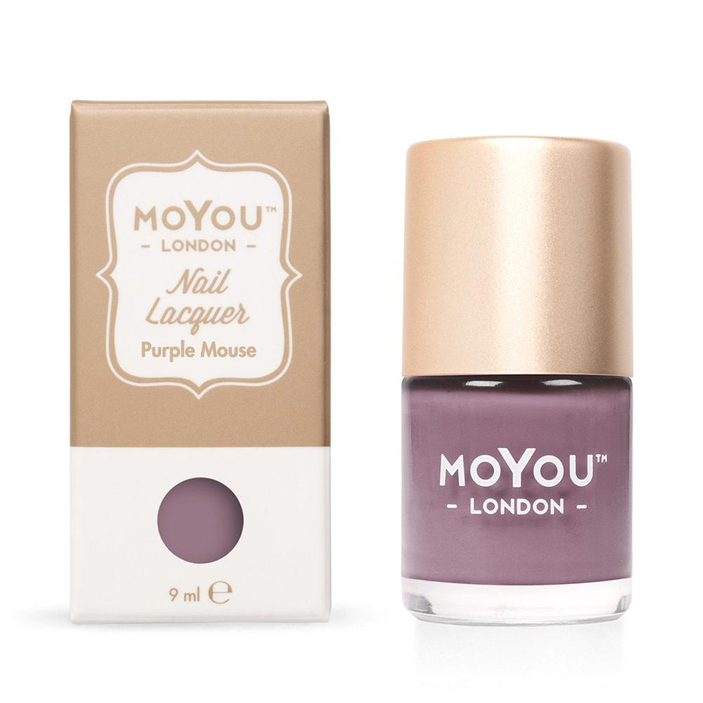 Moyou London / Stamping Nail Lacquer / Purple Mouse - Purple Mauve Stamping Polish