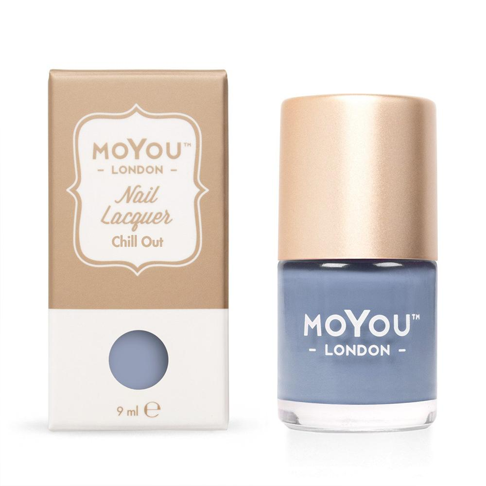 Moyou London / Stamping Nail Lacquer / Chill Out - Light Blue Stamping Polish