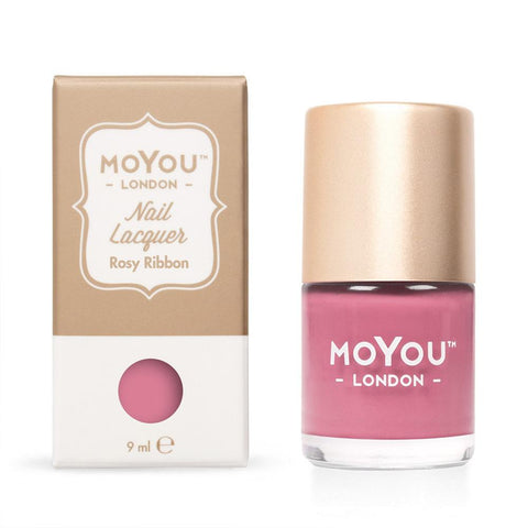 Moyou London / Stamping Nail Lacquer / Rosy Ribbon - Rose Pink Stamping Polish