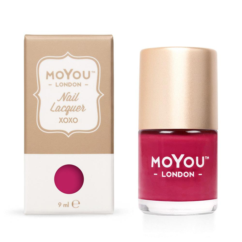 Moyou London / Stamping Nail Lacquer / XOXO - Rose Red Stamping Polish