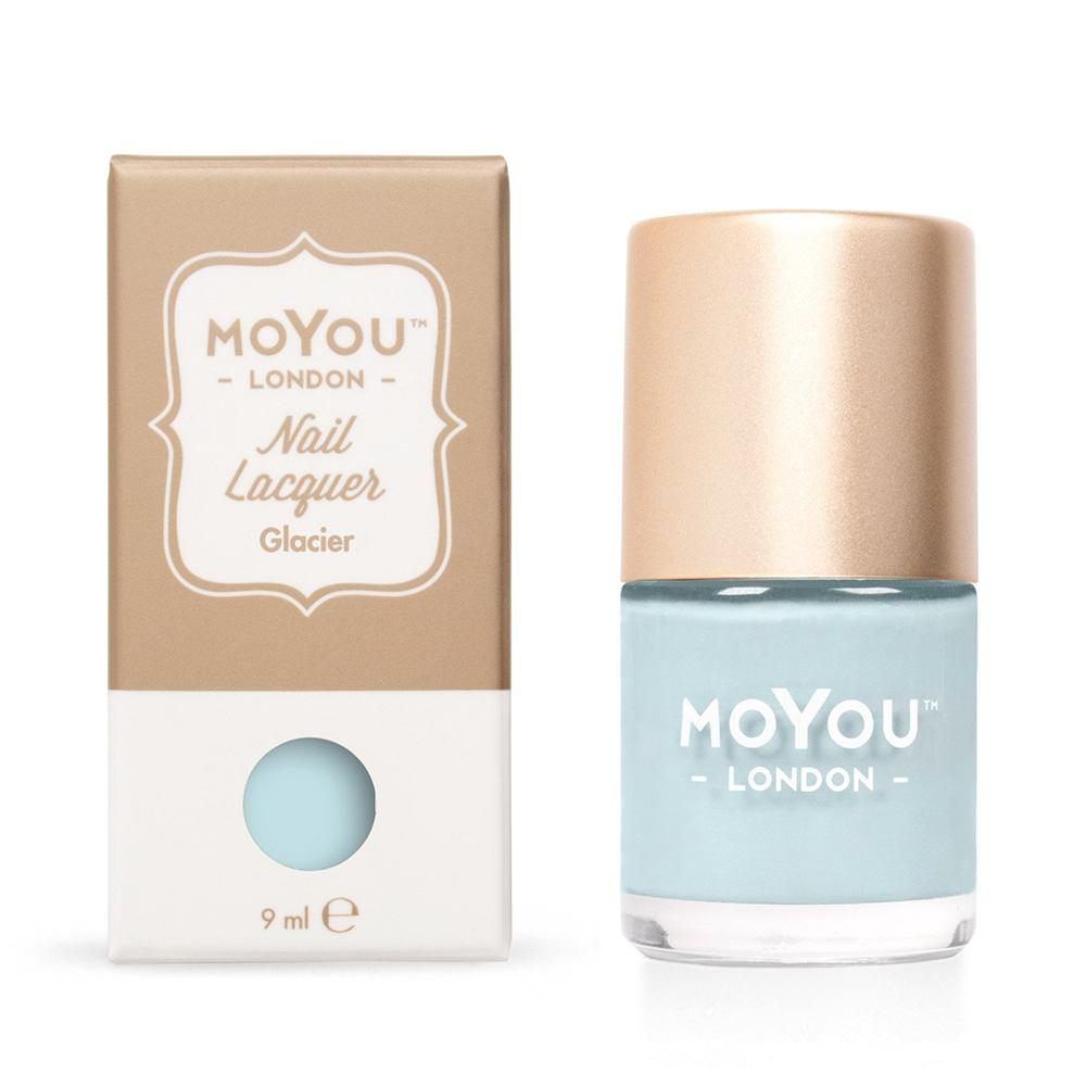 Moyou London / Stamping Nail Lacquer / Glacier - Light Blue Stamping Polish