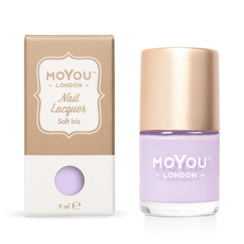 Moyou London / Stamping Nail Lacquer / Soft Iris - Light Purple Lavender Stamping Polish