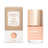 Moyou London / Stamping Nail Lacquer / Himalayan Salt - Light Peach Stamping Polish
