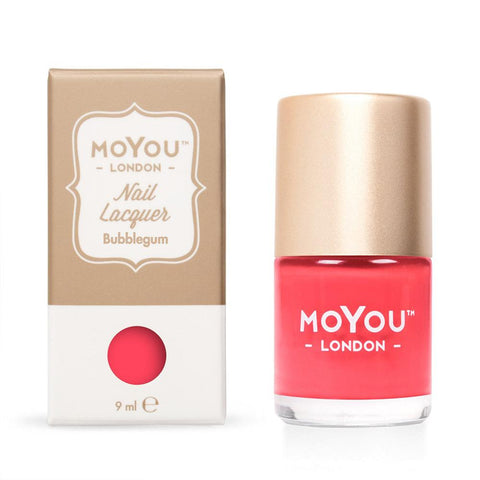 Moyou London / Stamping Nail Lacquer / Bubblegum - Red Coral Stamping Polish