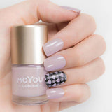 Moyou London / Stamping Nail Lacquer / Pandora - Dusty Light Purple Lavender Stamping Polish