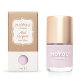 Moyou London / Stamping Nail Lacquer / Iced Lilac - Dusty Light Purple Lavender Stamping Polish