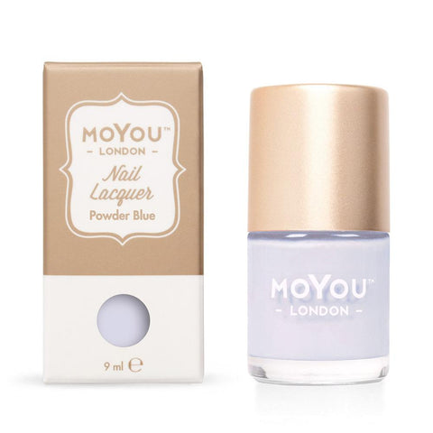 Moyou London / Stamping Nail Lacquer / Powder Blue - Light Blue Stamping Polish