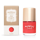 Moyou London / Stamping Nail Lacquer / Coral Crush - Red Coral Stamping Polish