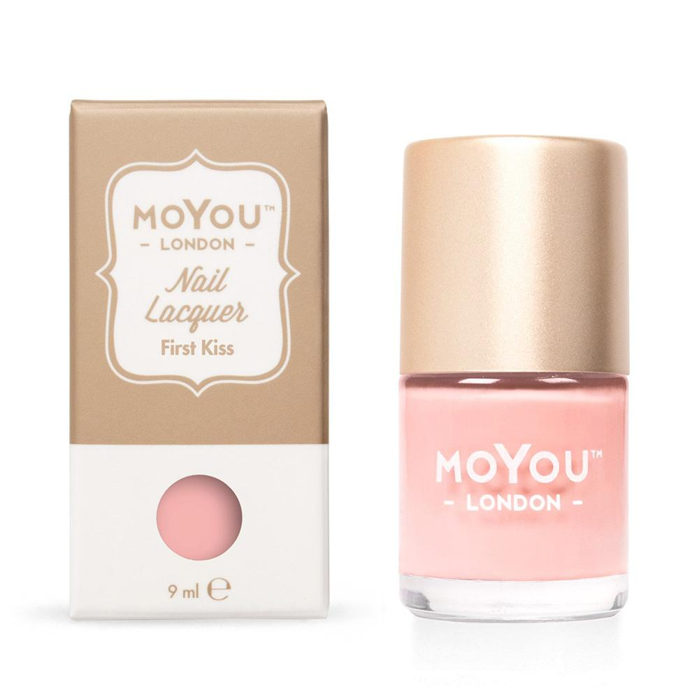 Moyou London / Stamping Nail Lacquer / First Kiss - Light Peach Pink Stamping Polish