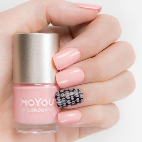 Moyou London / Stamping Nail Lacquer / One and Only - Light Peach Pink Stamping Polish