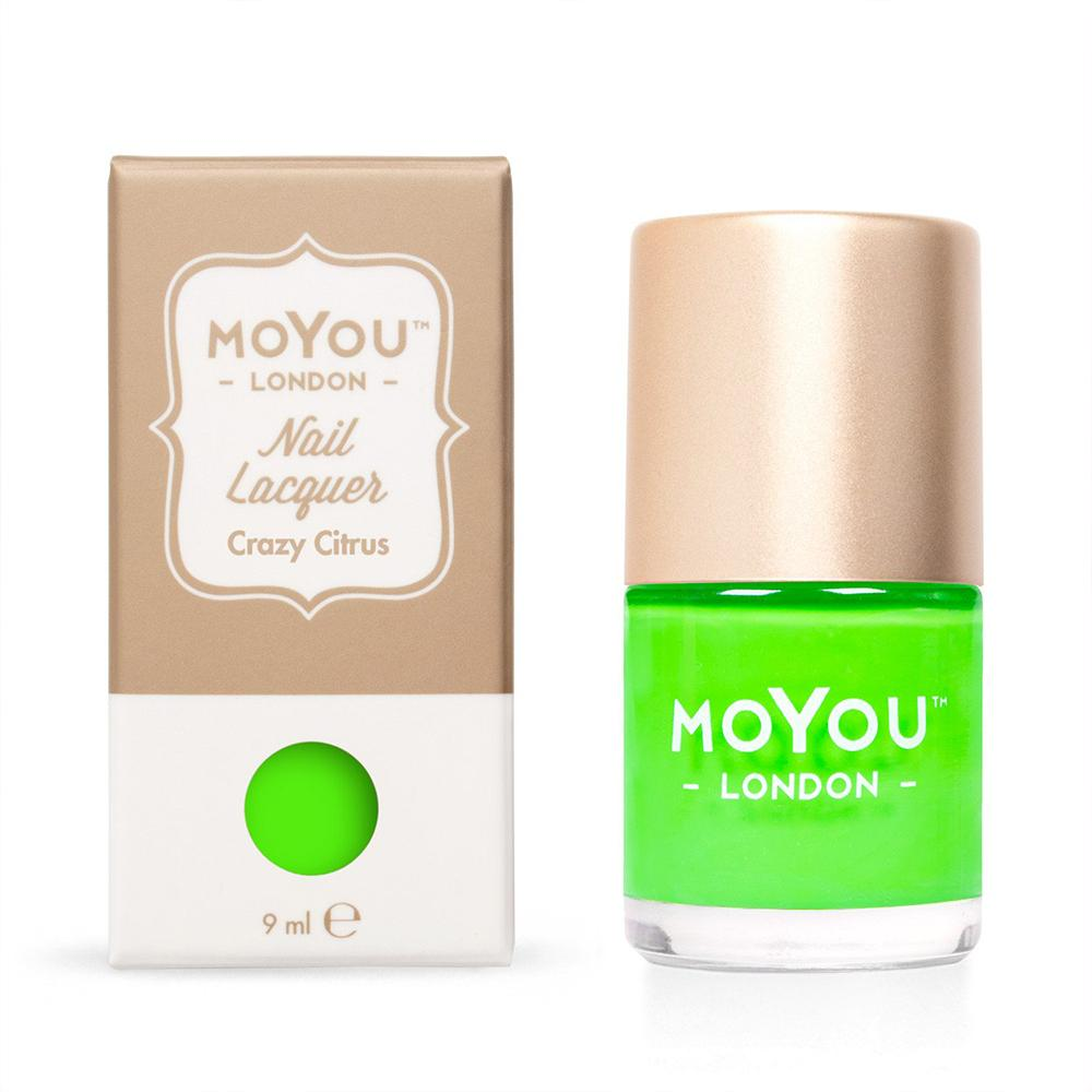 Moyou London / Stamping Nail Lacquer / Crazy Citrus - Neon Lime Stamping Polish