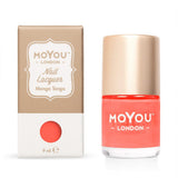 Moyou London / Stamping Nail Lacquer / Mango Tango - Neon Orange Stamping Polish