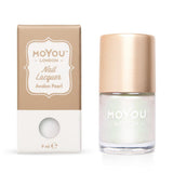 Moyou London / Stamping Nail Lacquer / Avalon Pearl - Pearlescent Pearl Color Shifting Stamping Polish