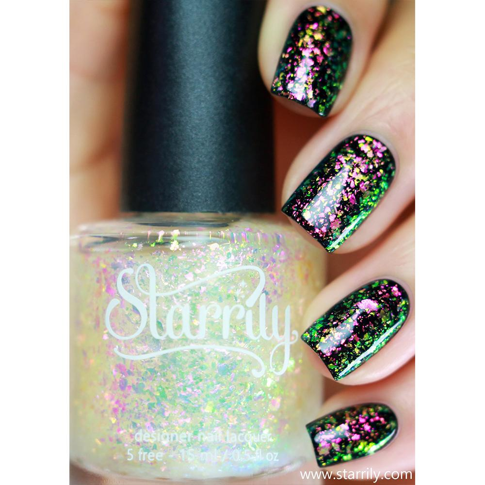 Daily Charme Indie Nail Polish Starrily / Enchanted color shifting iridescent flakie