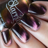 Daily Charme Indie Nail Polish Starrily / Nova magnetic color changing multi chrome nail polish